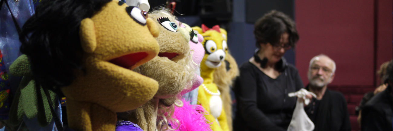 photo: Avenue Q puppets at the Arts Club Granville Island (Rick Waines)