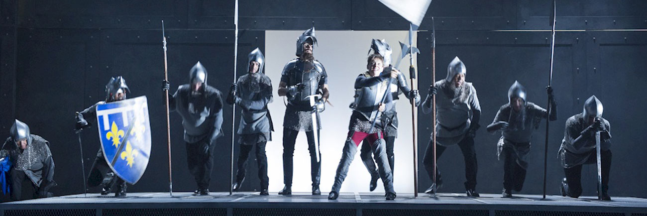 photo: Saint Joan leads soldiers into battle (David Cooper/Arts Club)